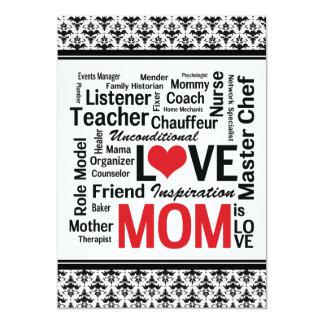 Let's Celebrate Mom! Mother's Day /Mom's Birthday 5x7 Paper Invitation Card