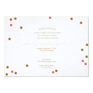 """Let's Celebrate - New Years Eve Party Invitation 5"""" X 7"""" Invitation Card"""