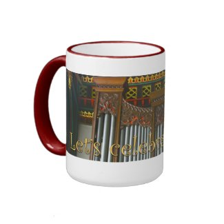 Let's celebrate organs mug - Leicester Cathedral