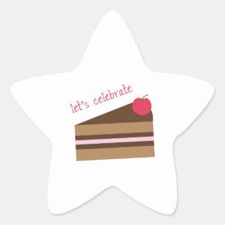Lets Celebrate Star Sticker