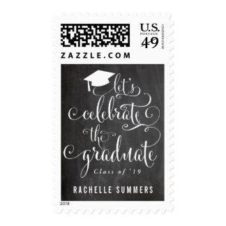 Let's Celebrate The Graduate Chalkboard Postage