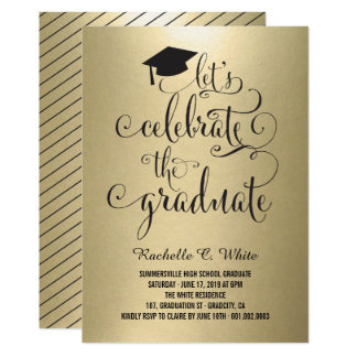 Let's Celebrate The Graduate Foil Party Invite