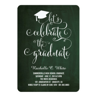 Let's Celebrate The Graduate Grad Party Invite