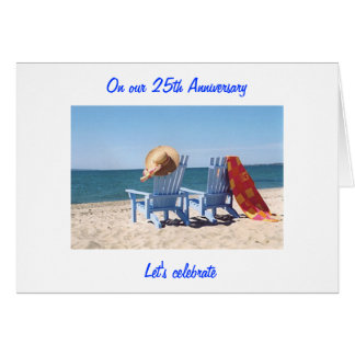 """LET'S CELEBRATE """"US"""" -  25th WEDDING ANNIVERARY Greeting Card"""