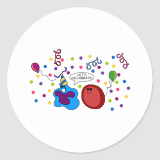 Let's Cellebrate Classic Round Sticker