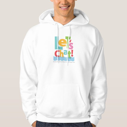 Let's Chat Hooded Sweatshirt Rainbow