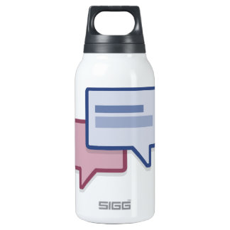 Let's chat on facebook thermos bottle