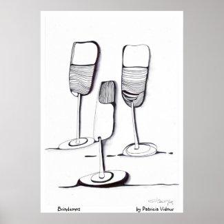 Let's Cheers - Brindemos print