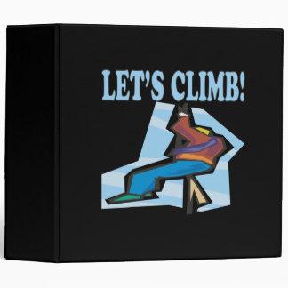 Lets Climb 2 3 Ring Binder