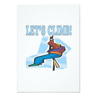 Lets Climb 2 5x7 Paper Invitation Card