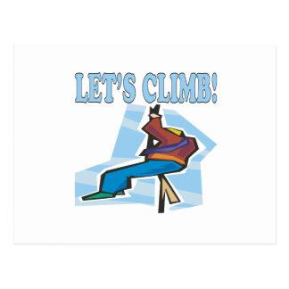 Lets Climb 2 Postcard