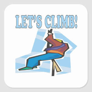 Lets Climb 2 Square Sticker