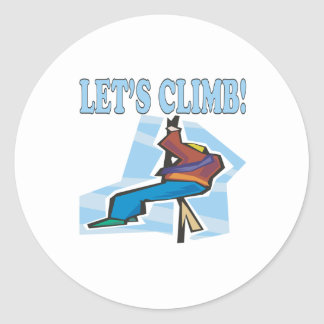 Lets Climb 2 Classic Round Sticker