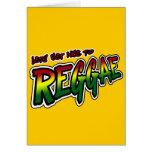 Lets consigue agradable a la música del reggae de  tarjetón