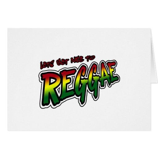 Lets consigue agradable a la música del reggae de  tarjeta de felicitación