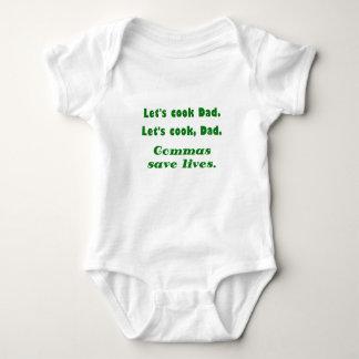Lets Cook Dad Commas Save Lives Baby Bodysuit