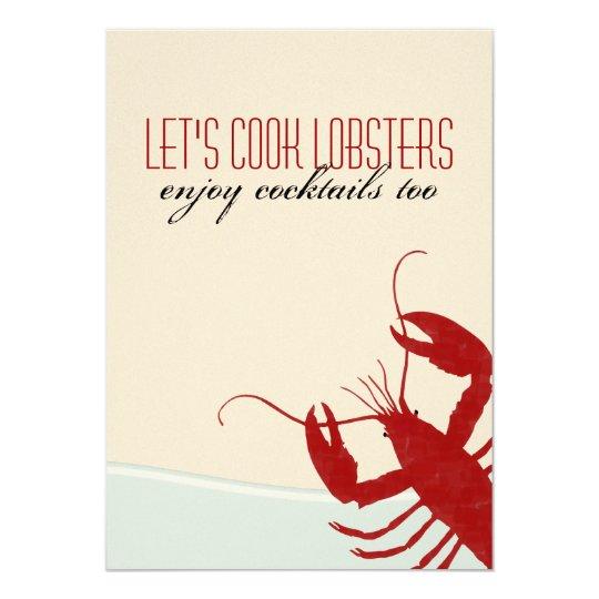 Let's Cook Lobsters Lobster Bake Invitation