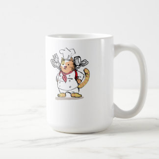 Let's cooking with cat chef coffee mug