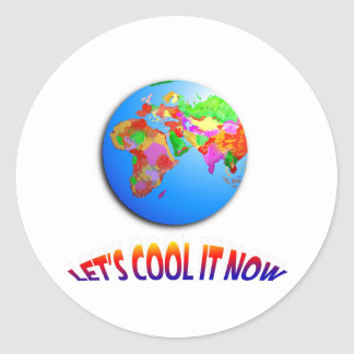 Let's Cool it Now Round Sticker