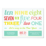"""Let's Count Down New Year's Eve Party Invitation 5"""" X 7"""" Invitation Card"""