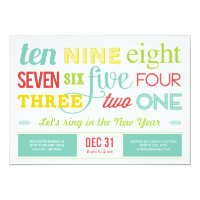Let's Count Down New Year's Eve Party Invitation