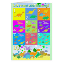 Let's Count With Dinosaurs Numbers 1 - 10 Counting Card