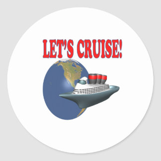 Lets Cruise 2 Classic Round Sticker