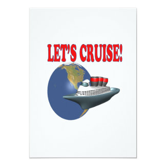 Lets Cruise 2 5x7 Paper Invitation Card