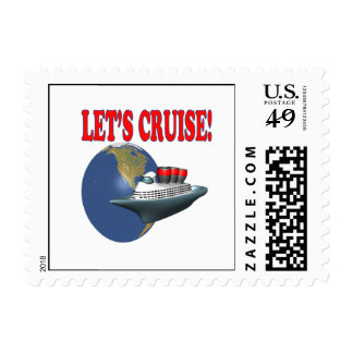 Lets Cruise 2 Postage Stamp