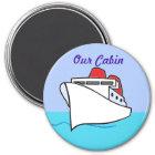 Let's Cruise Cabin Door Marker Magnet