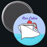 """Let&#39;s Cruise Cabin Door Marker Magnet<br><div class=""""desc"""">Let&#39;s Cruise!  A cruise ship sailing in smooth seas under a sunny sky.</div>"""