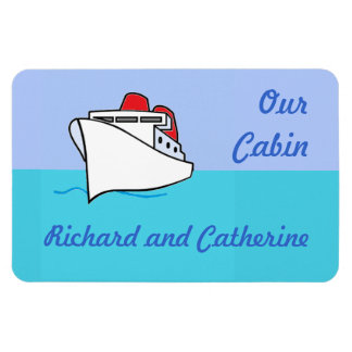 Let's Cruise Cabin Personalized Door Marker Rectangular Photo Magnet