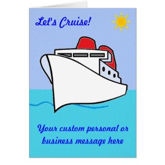 Let's Cruise Custom Card