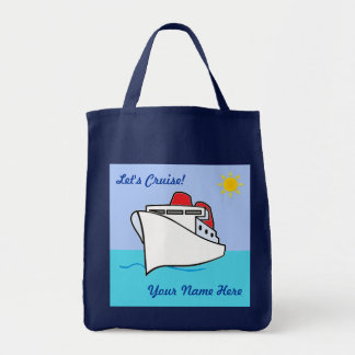 Let's Cruise Fun Personalized Tote Bag