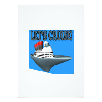 Lets Cruise 5x7 Paper Invitation Card