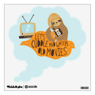 """Let's Cuddle"" Sloth Wall Decal"