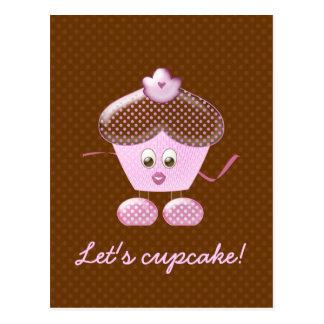 let's cupcake! postcard
