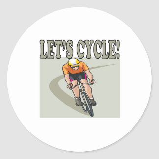 Lets Cycle Classic Round Sticker