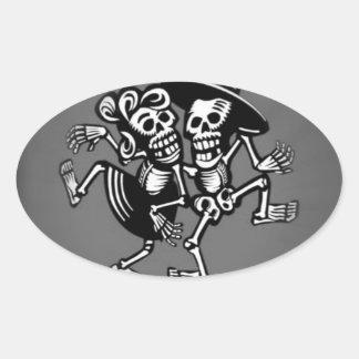 lets dance B&W Oval Sticker