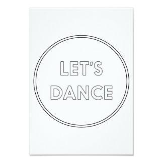 Let's Dance Card