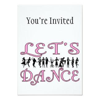 Let's Dance Dancing Couples 5x7 Paper Invitation Card