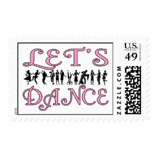 Let's Dance Dancing Couples Postage