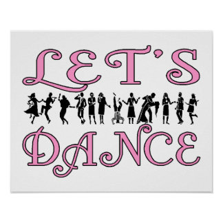 Let's Dance Dancing Couples Poster