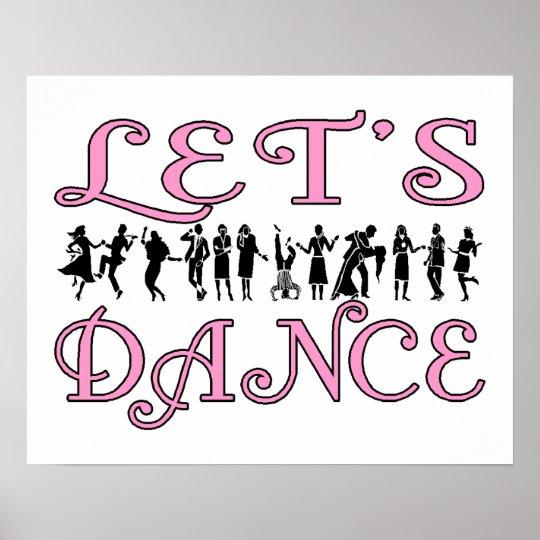 Let's Dance Dancing Couples Poster