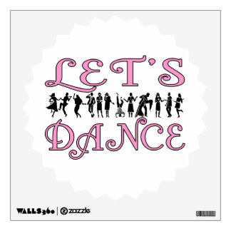 Let's Dance Dancing Couples Wall Sticker