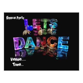 """Lets Dance 8.5"""" X 11"""" Flyer"""
