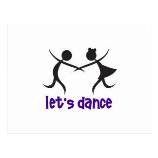 LETS DANCE POSTCARD