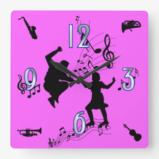 Let's Dance Square Wall Clock