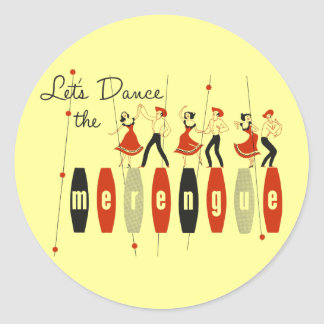 Let's Dance the Merengue Classic Round Sticker