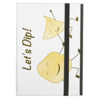 Let's Dip! (Cartoon Potato & Tortilla Chip) iPad Air Cover